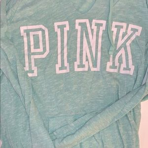 PINK hooded lightweight pullover